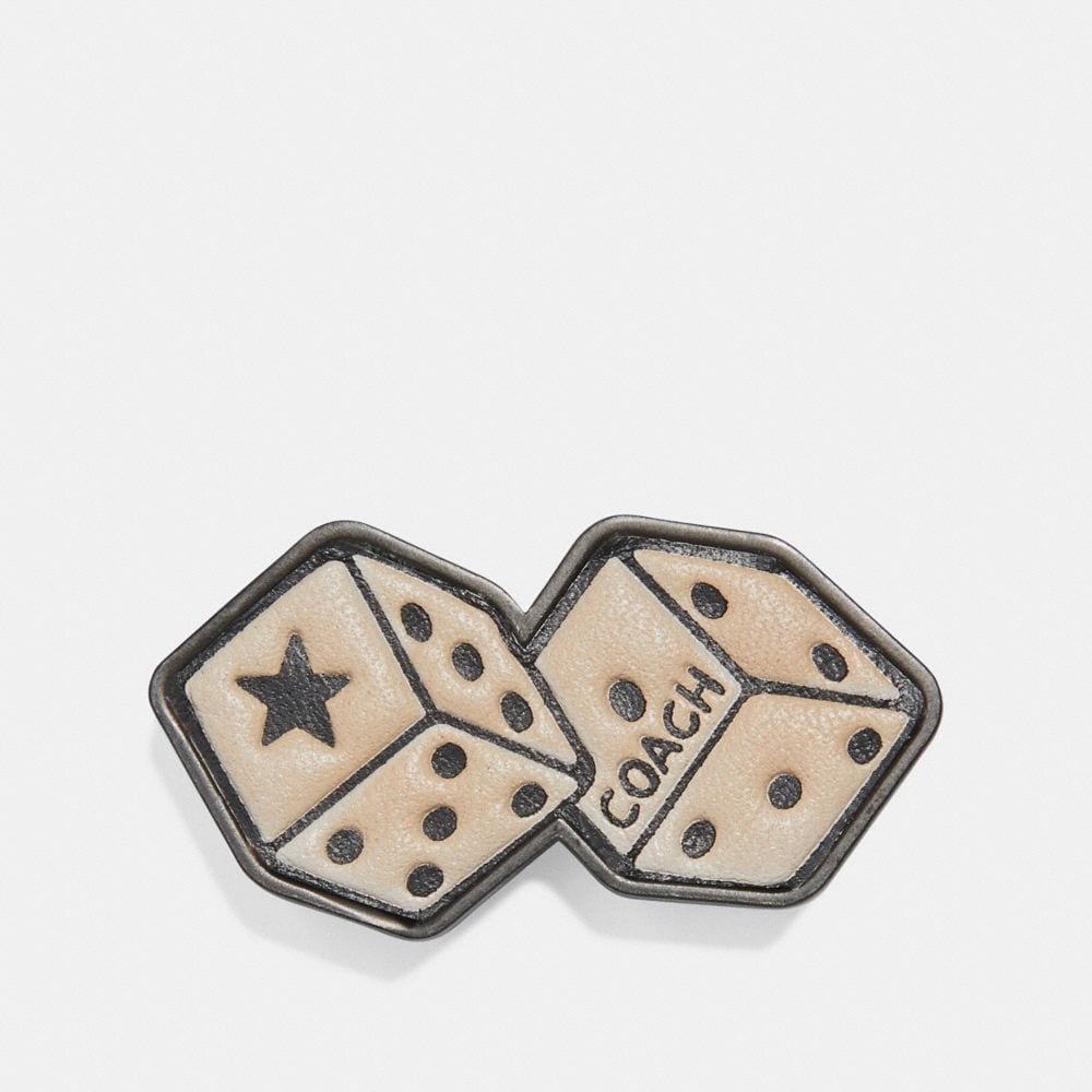 Coach Pin With Tattoo Dice