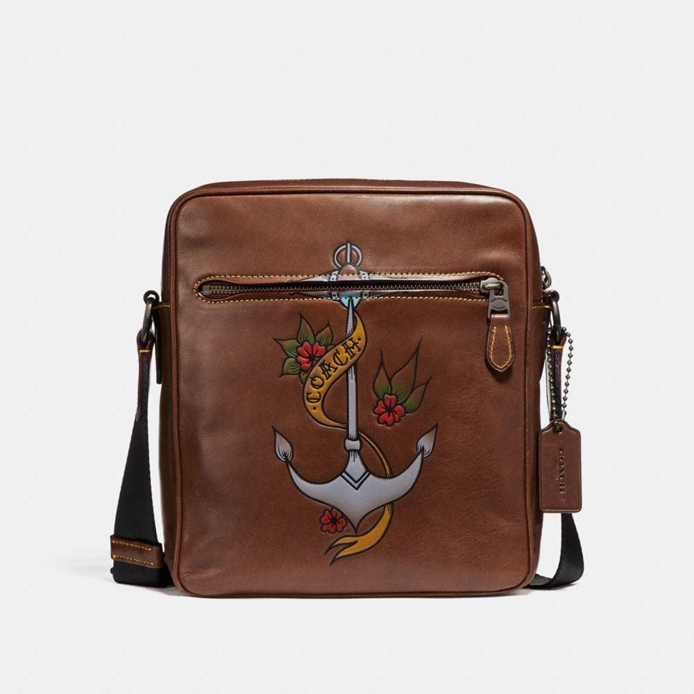 Coach Metropolitan Flight Bag With Tattoo Tooling