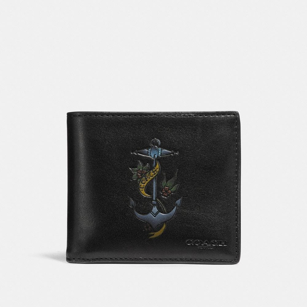 Coach Double Billfold Wallet With Tattoo