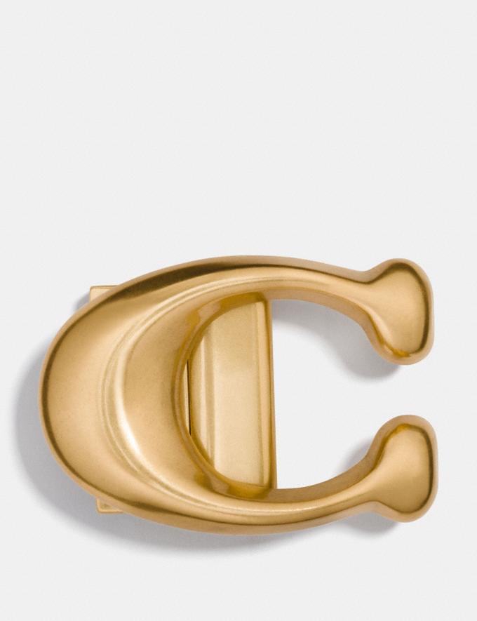 Coach Signature Buckle Brass Men Accessories Belts