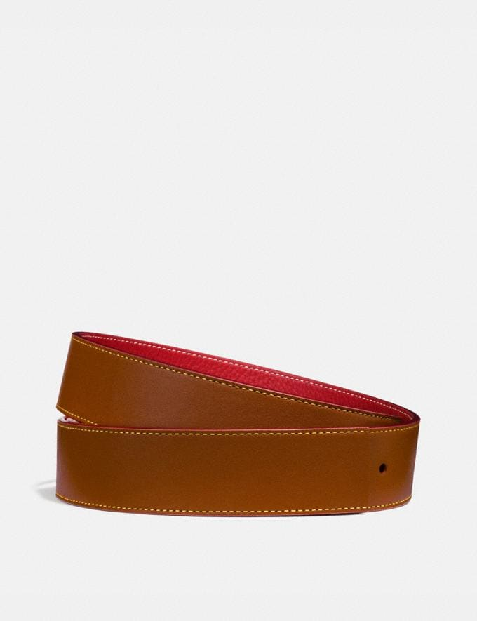 Coach Reversible Belt Strap, 38mm 1941 Saddle/1941 Red Men Accessories