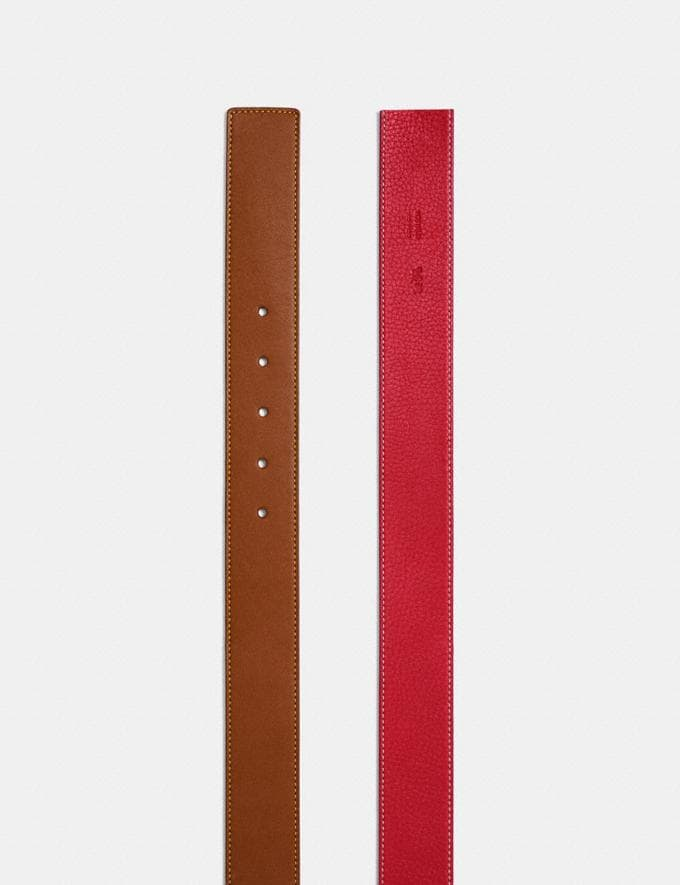 Coach Reversible Belt Strap, 38mm 1941 Saddle/1941 Red Men Accessories Alternate View 1