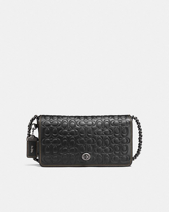 DINKY IN SIGNATURE GLOVETANNED LEATHER WITH CHAIN
