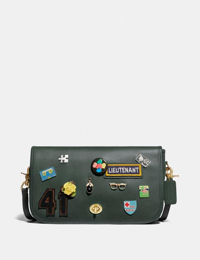 Coach Remixed Dinky 10 Brass/Green