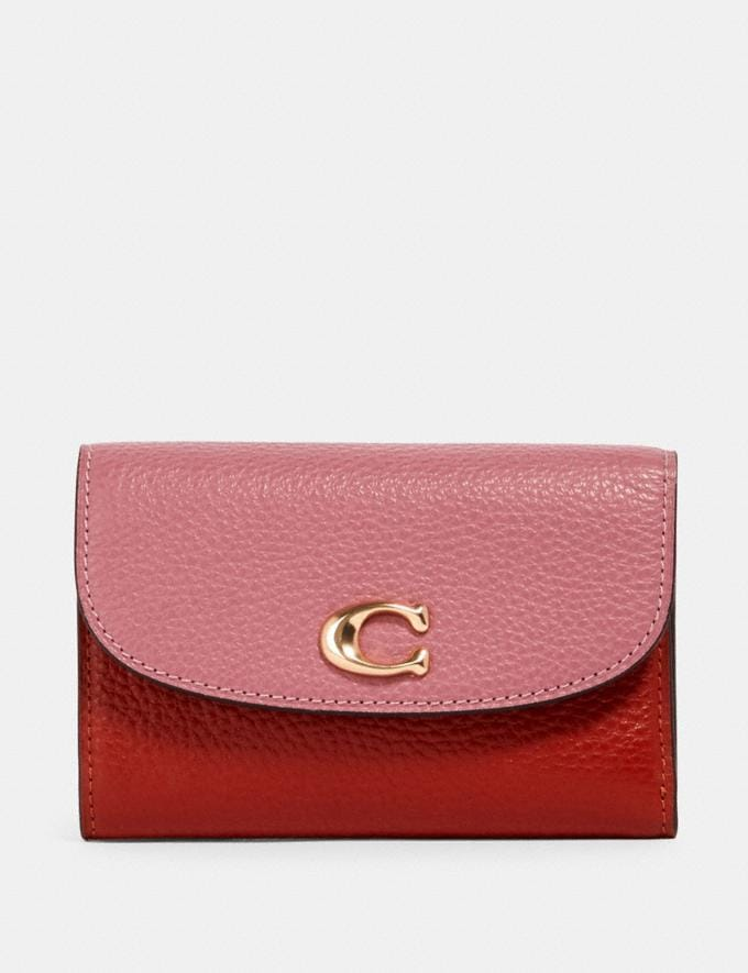 Coach Remi Medium Envelope Wallet in Colorblock Im/Rose Multi Accessories Wallets