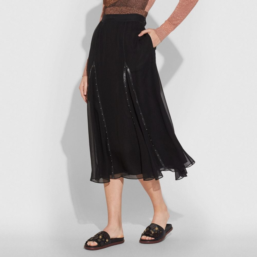 Coach Prairie Rivets Long Skirt