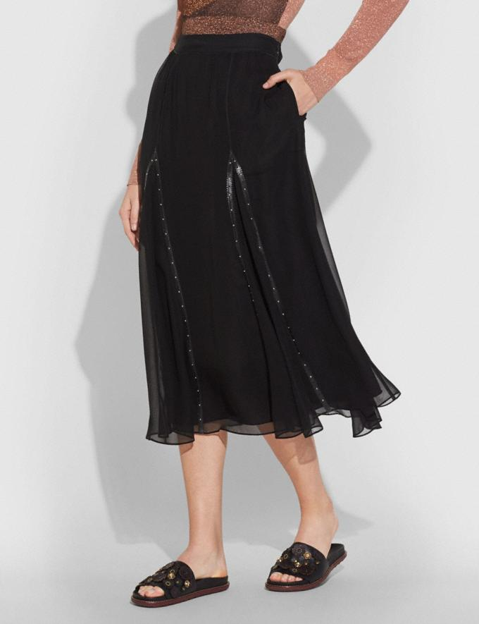 Coach Prairie Rivets Long Skirt Black