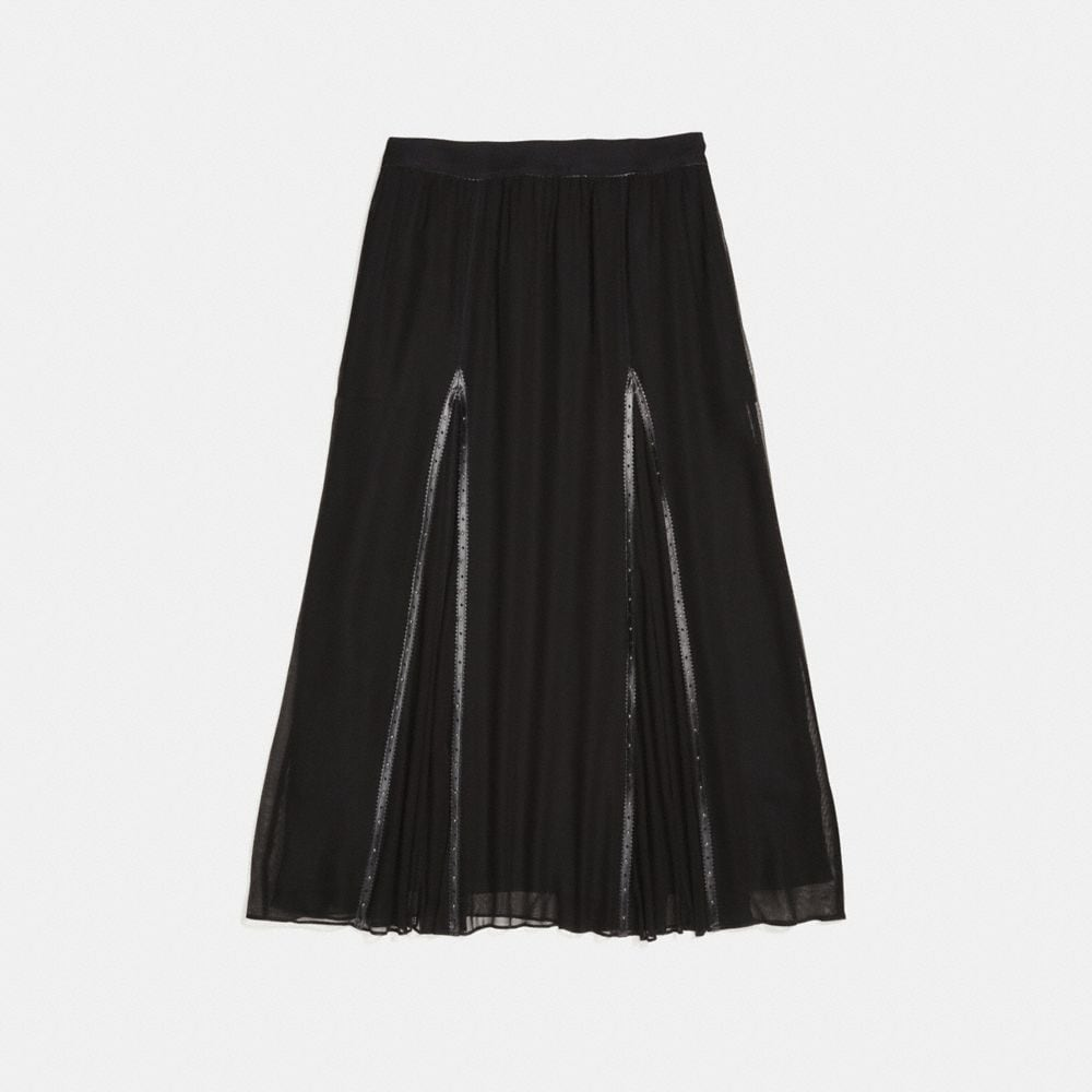 Coach Prairie Rivets Long Skirt Alternate View 1