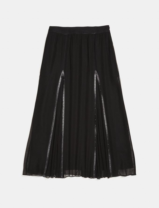 Coach Prairie Rivets Long Skirt Black  Alternate View 1
