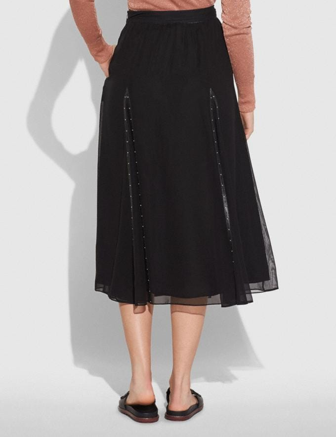 Coach Prairie Rivets Long Skirt Black  Alternate View 2