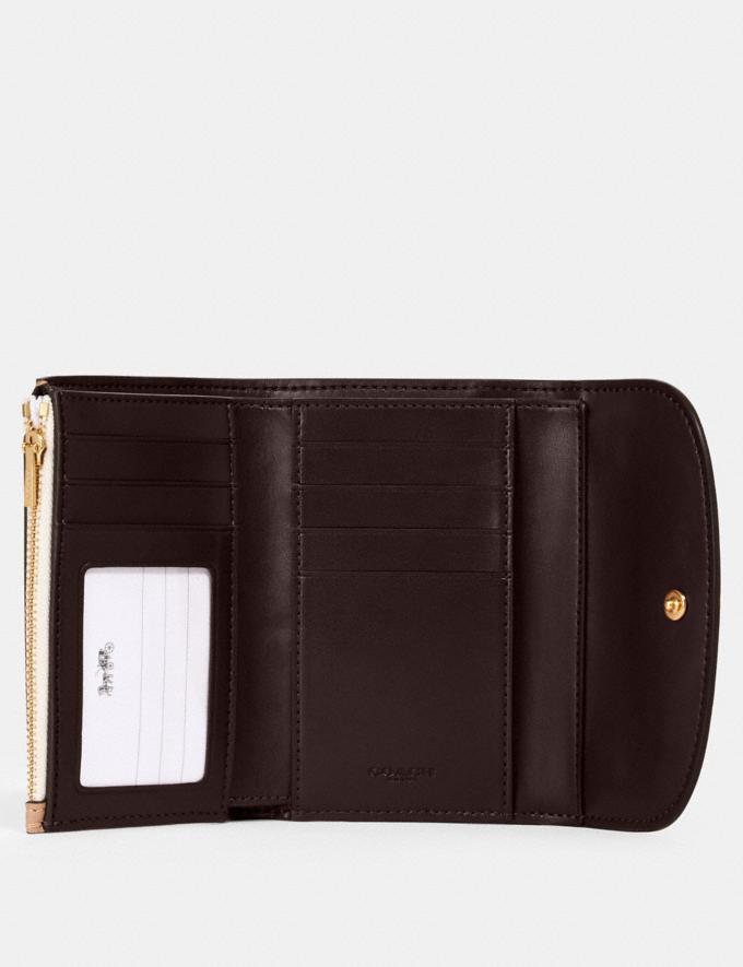 Coach Remi Medium Envelope Wallet With Whipstitch Daisy Applique Sv/Midnight Deals Finds Under $100 Alternate View 1
