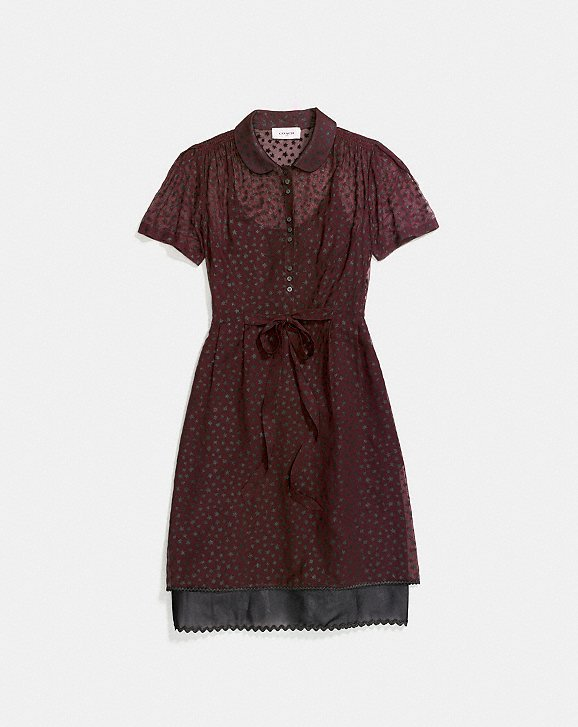 Coach Star Print Shirt Dress