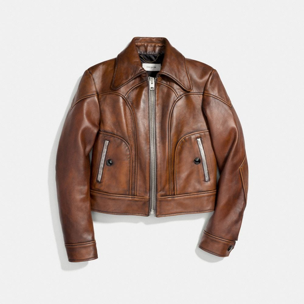 Coach Landscape Leather Jacket