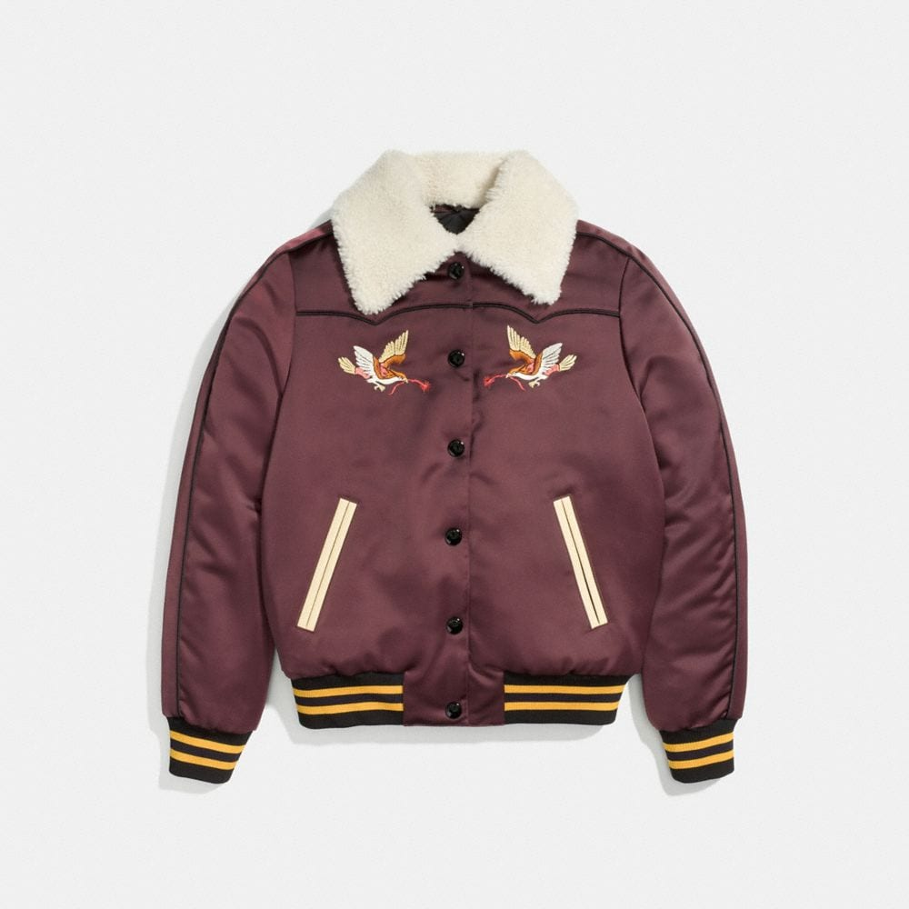 Coach Reversible Montana Varsity Puffer Alternate View 1