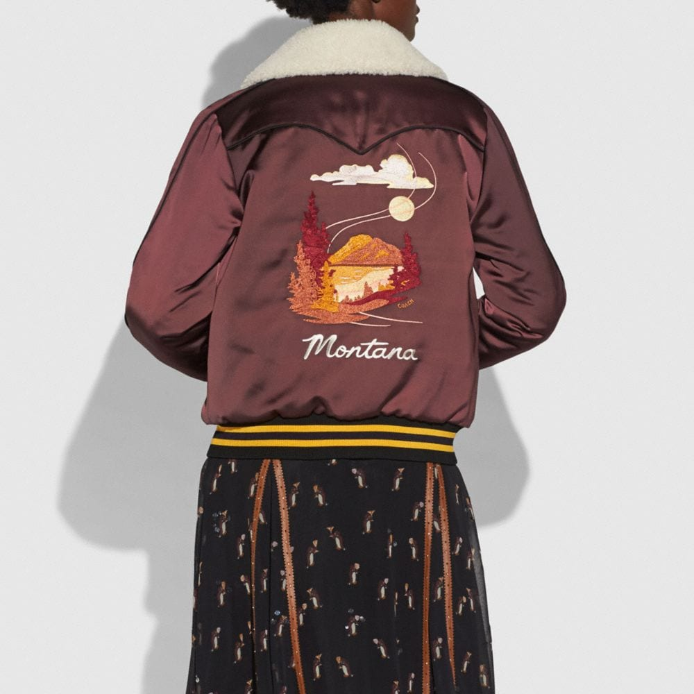 Coach Reversible Montana Varsity Puffer Alternate View 2