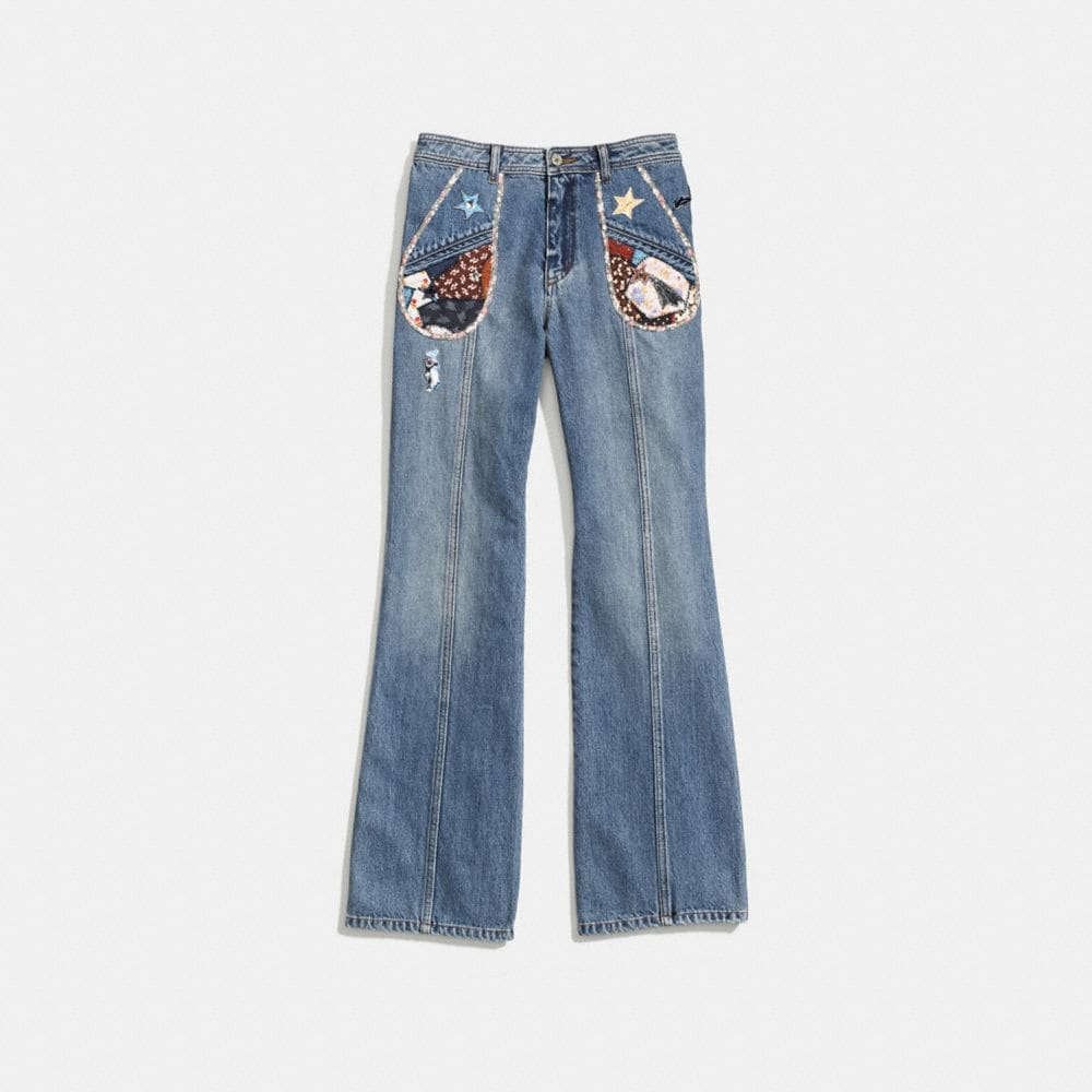 Coach Patchwork Denim Pants