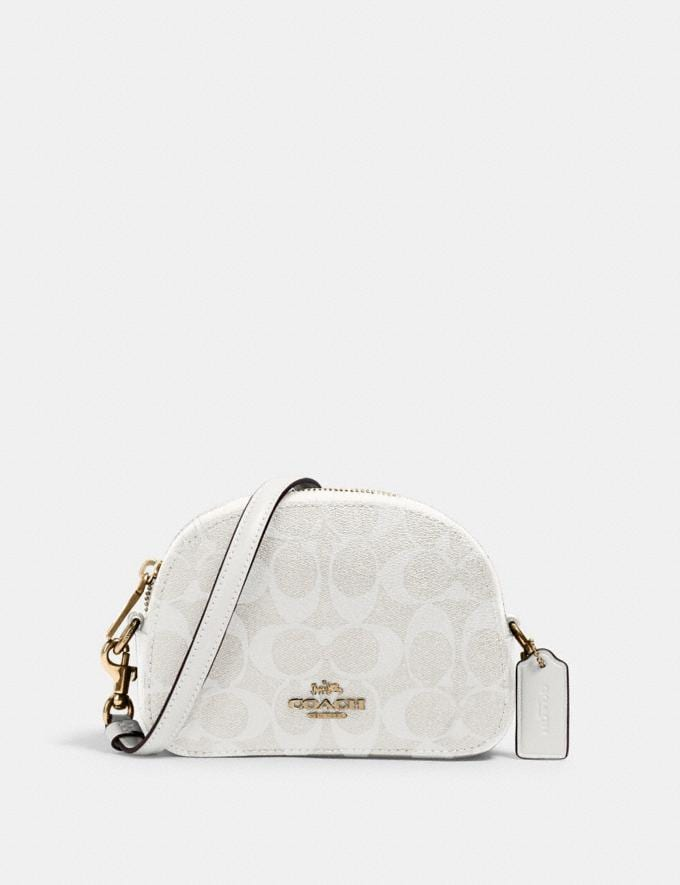 Coach Mini Serena Crossbody in Signature Canvas Im/Chalk/Glacierwhite Gifts Gifts Gifts Under $100