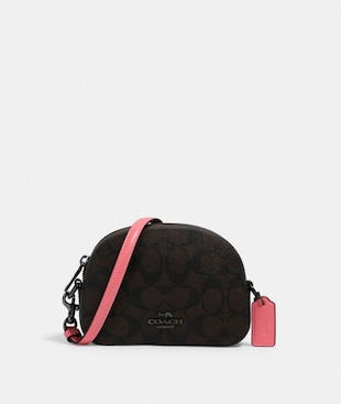 MINI SERENA CROSSBODY IN SIGNATURE CANVAS