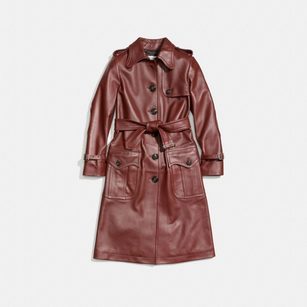 Coach Leather Trench Alternate View 1