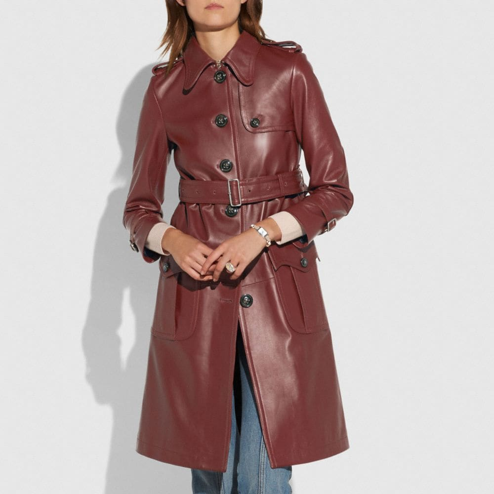 Coach Leather Trench Alternate View 3