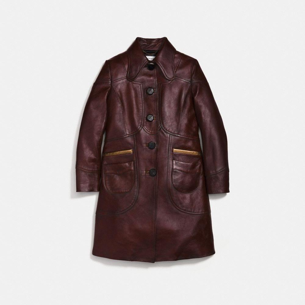 Coach Landscape Leather Coat