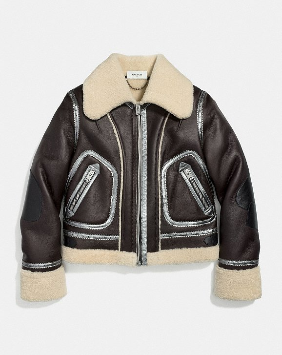 Coach Shearling Aviator