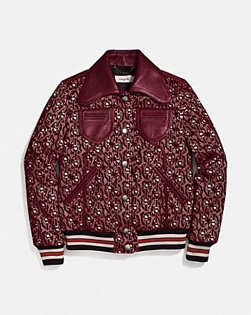 SIGNATURE CHAIN JACQUARD JACKET