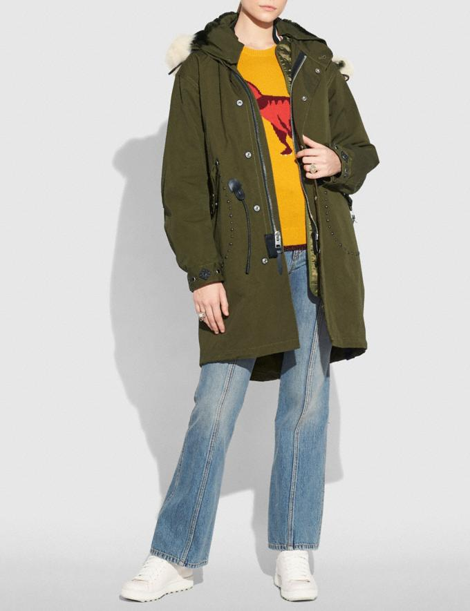 Coach Parka Khaki Green Women Ready-to-Wear Coats & Jackets