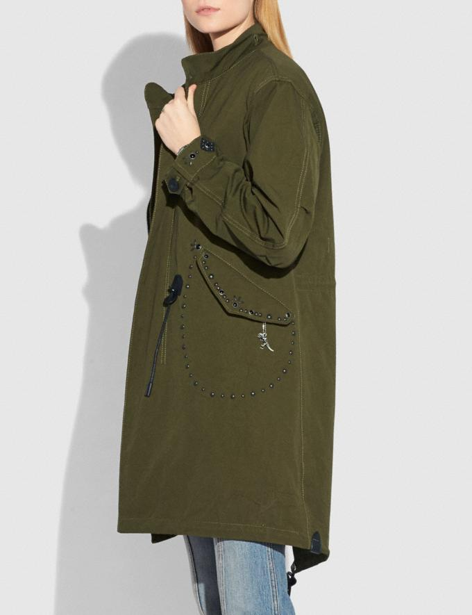 Coach Parka Khaki Green Women Ready-to-Wear Coats & Jackets Alternate View 4