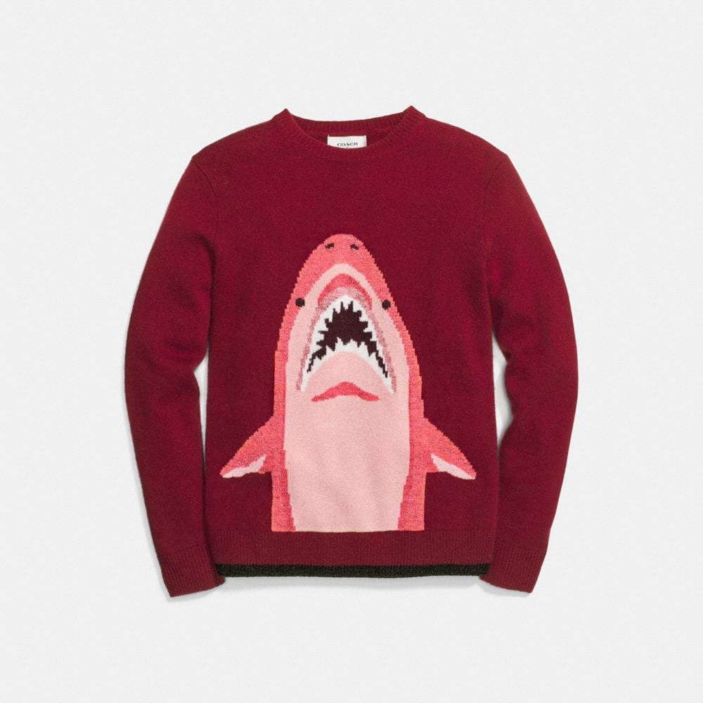 Coach Sharky Intarsia Sweater