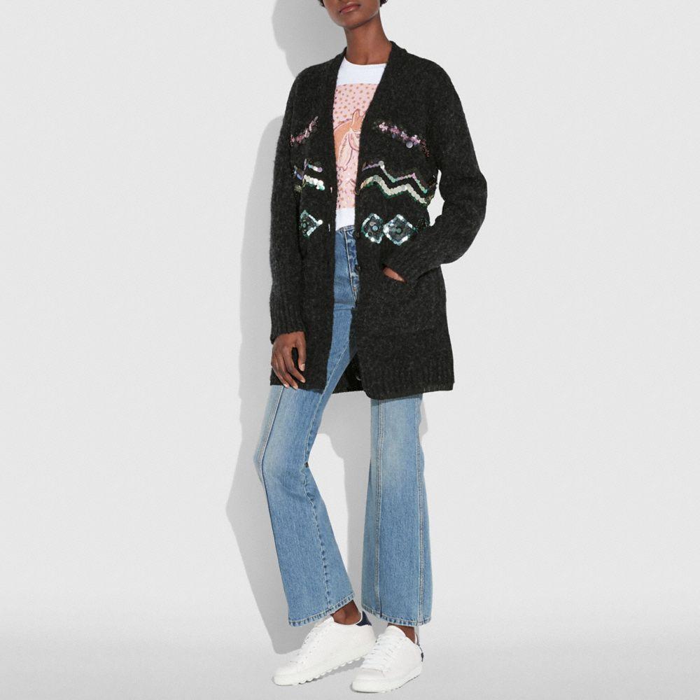zigzag embellished cardigan