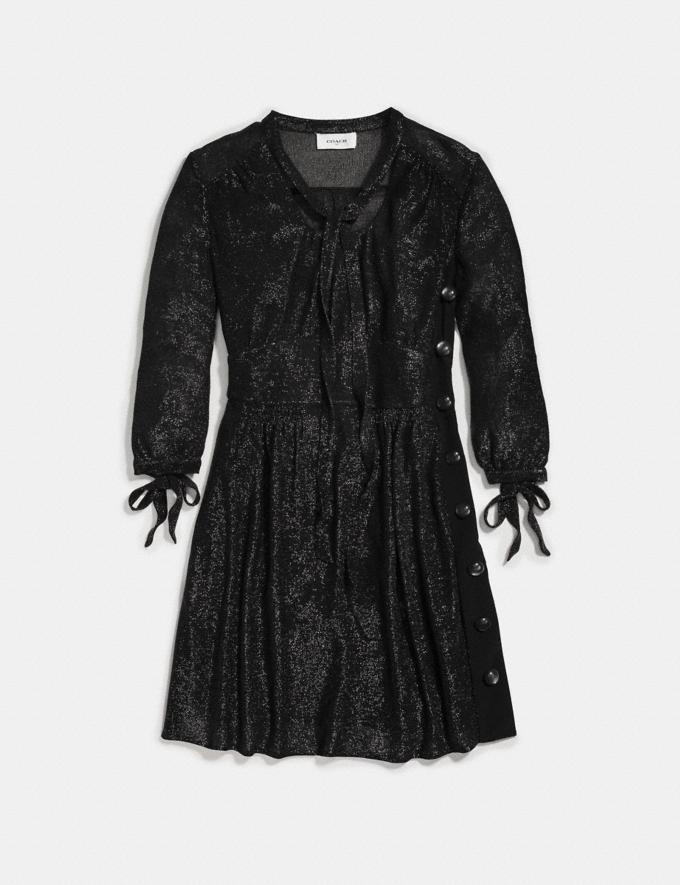 Coach Lurex Tie Neck Dress Black SALE Women's Sale Ready-to-Wear