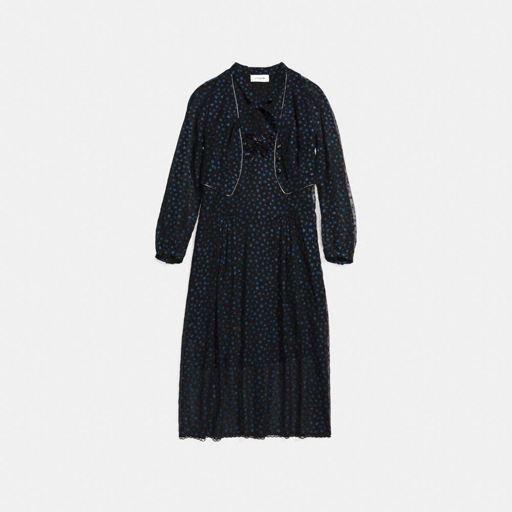 STAR PRINT WAISTCOAT DRESS