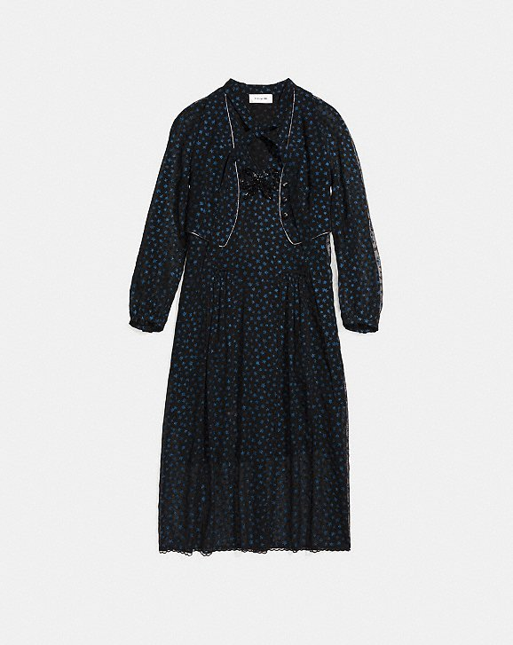 Coach Star Print Waistcoat Dress Coach p3HY1C1lZc