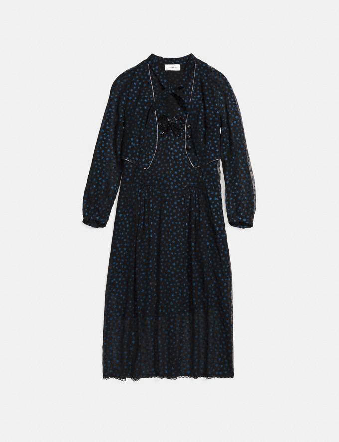Coach Star Print Waistcoat Dress Navy SALE Women's Sale Ready-to-Wear