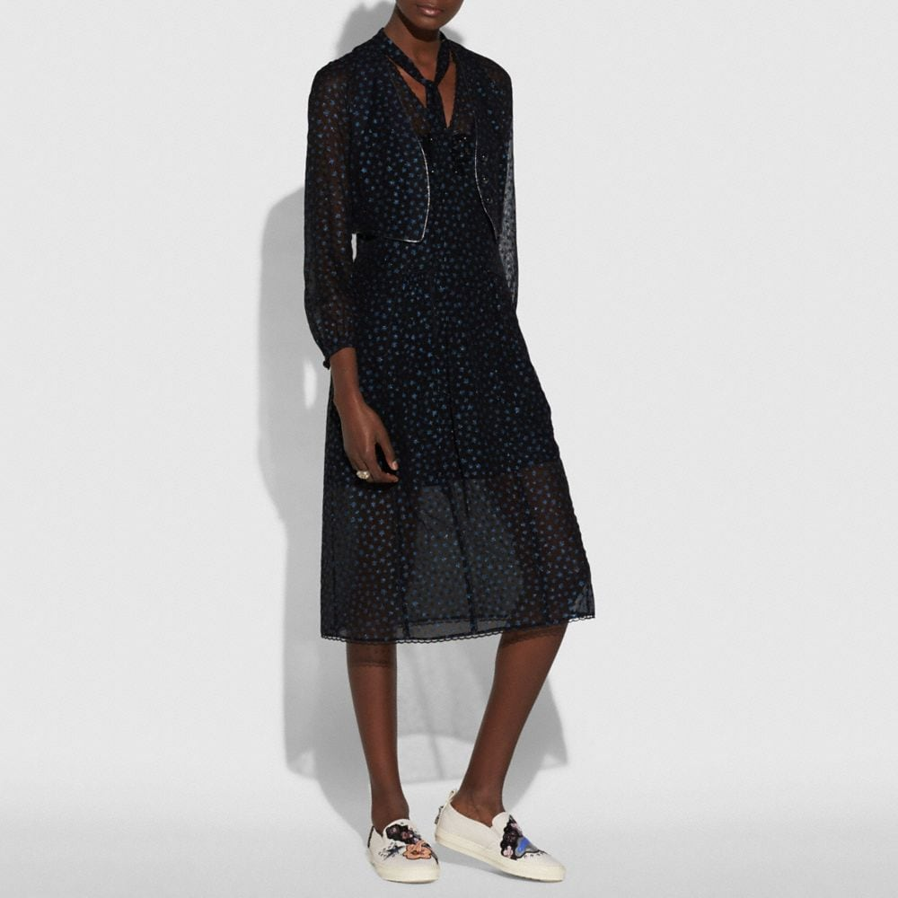 Coach Star Print Waistcoat Dress Alternate View 1