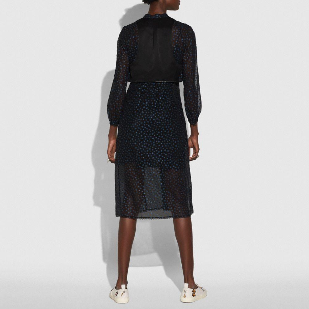 Coach Star Print Waistcoat Dress Alternate View 2