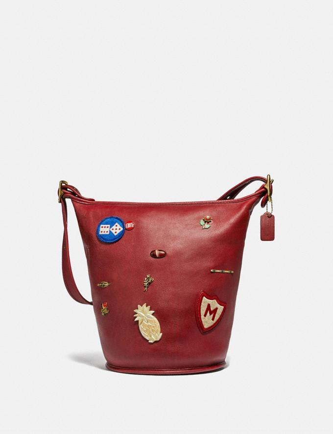 Coach Remixed Duffle 15 Brass/Red New Women's New Arrivals View All