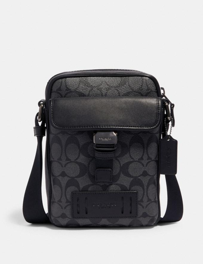 Coach Ranger Crossbody in Signature Canvas Qb/Charcoal Black DEFAULT_CATEGORY