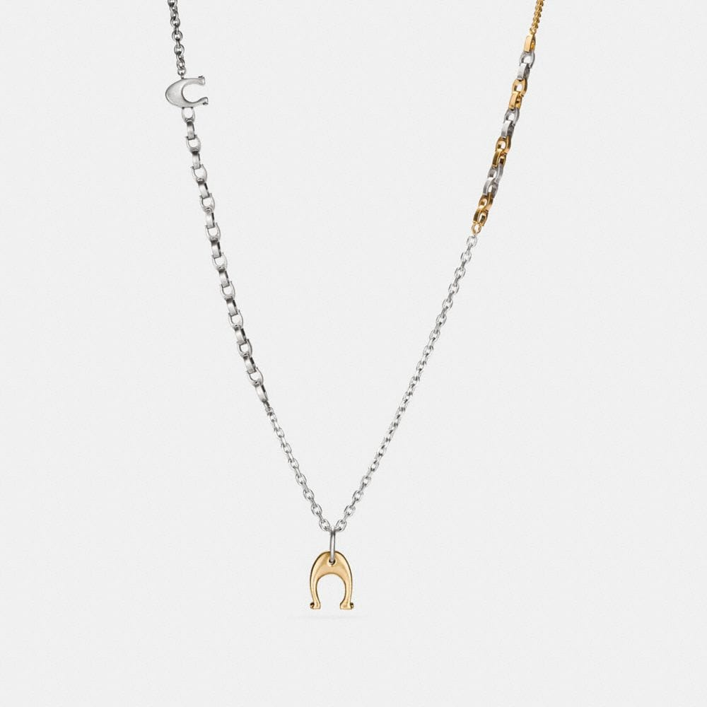 Coach Signature Chain Link Toggle Necklace