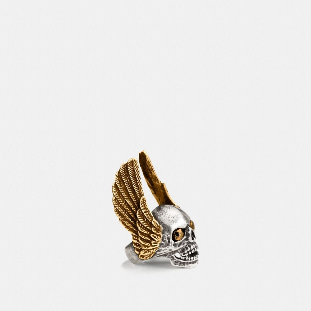 OVERSIZED WINGED SKULL RING