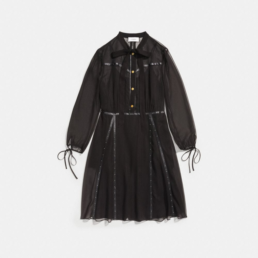 Coach Button Up Dress