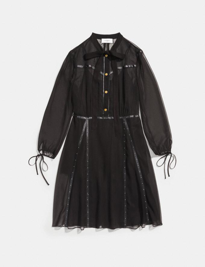 Coach Button Up Dress Black SALE Women's Sale Ready-to-Wear