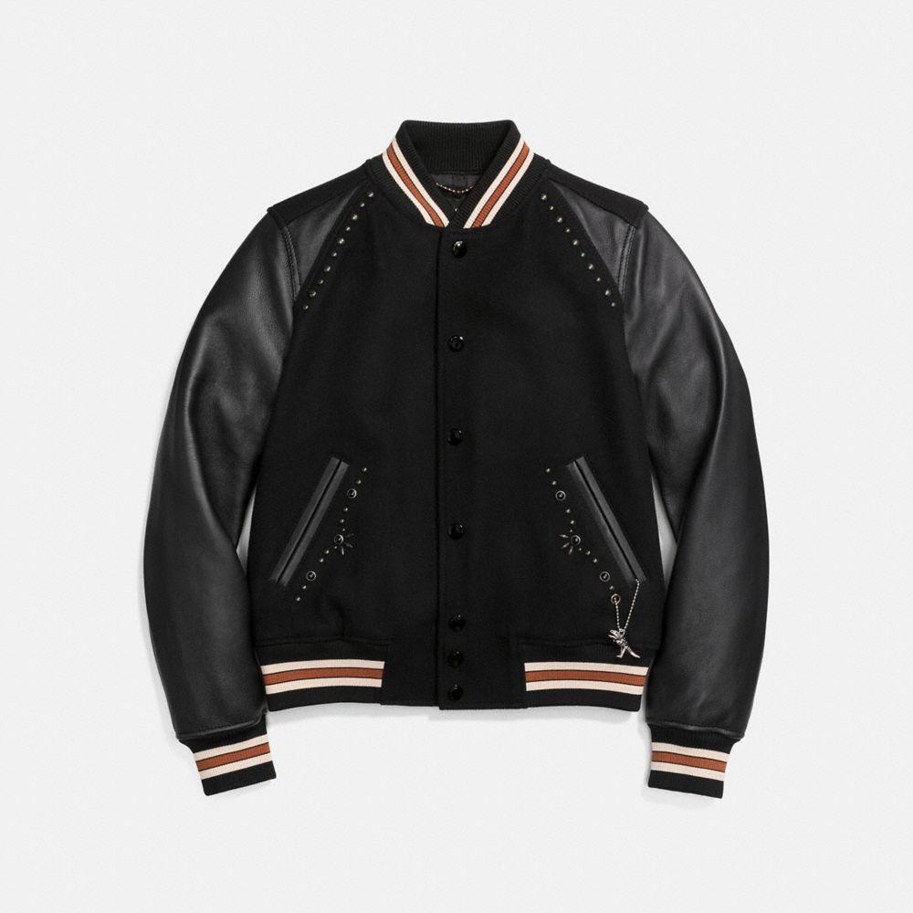 Coach Embellished Varsity Jacket