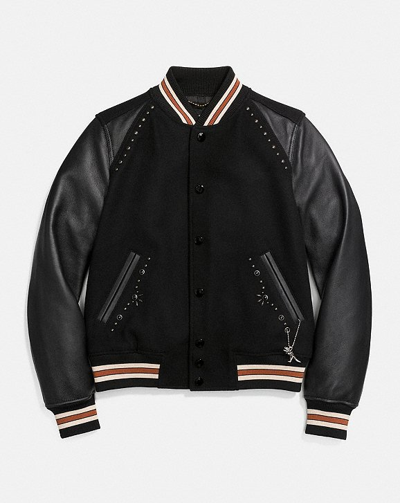 Coach Embellished Varsity Jacket