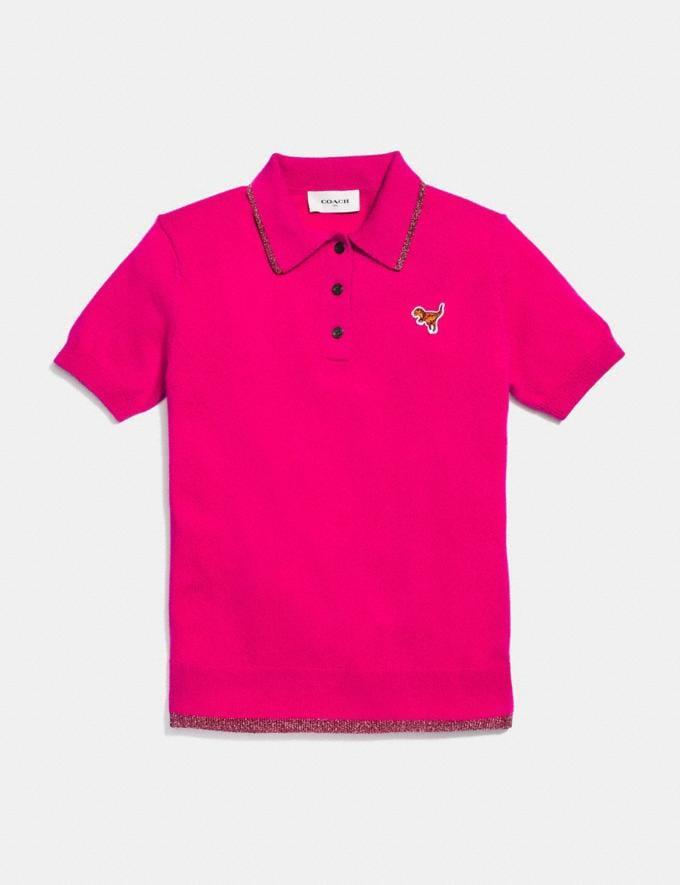 Coach Essentials Polo Fuschia