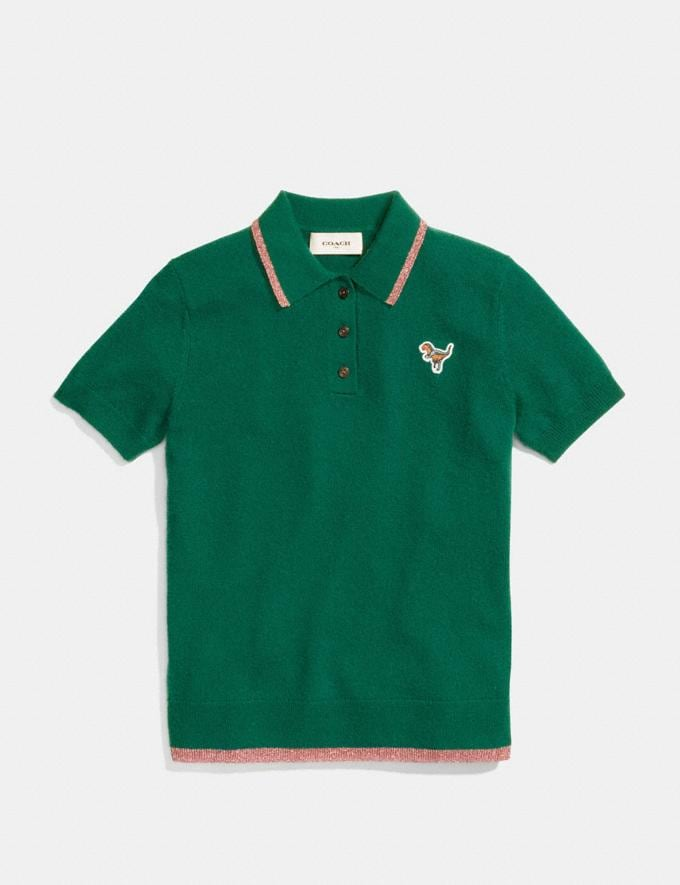 Coach Essentials Polo Dark Green  Alternate View 1