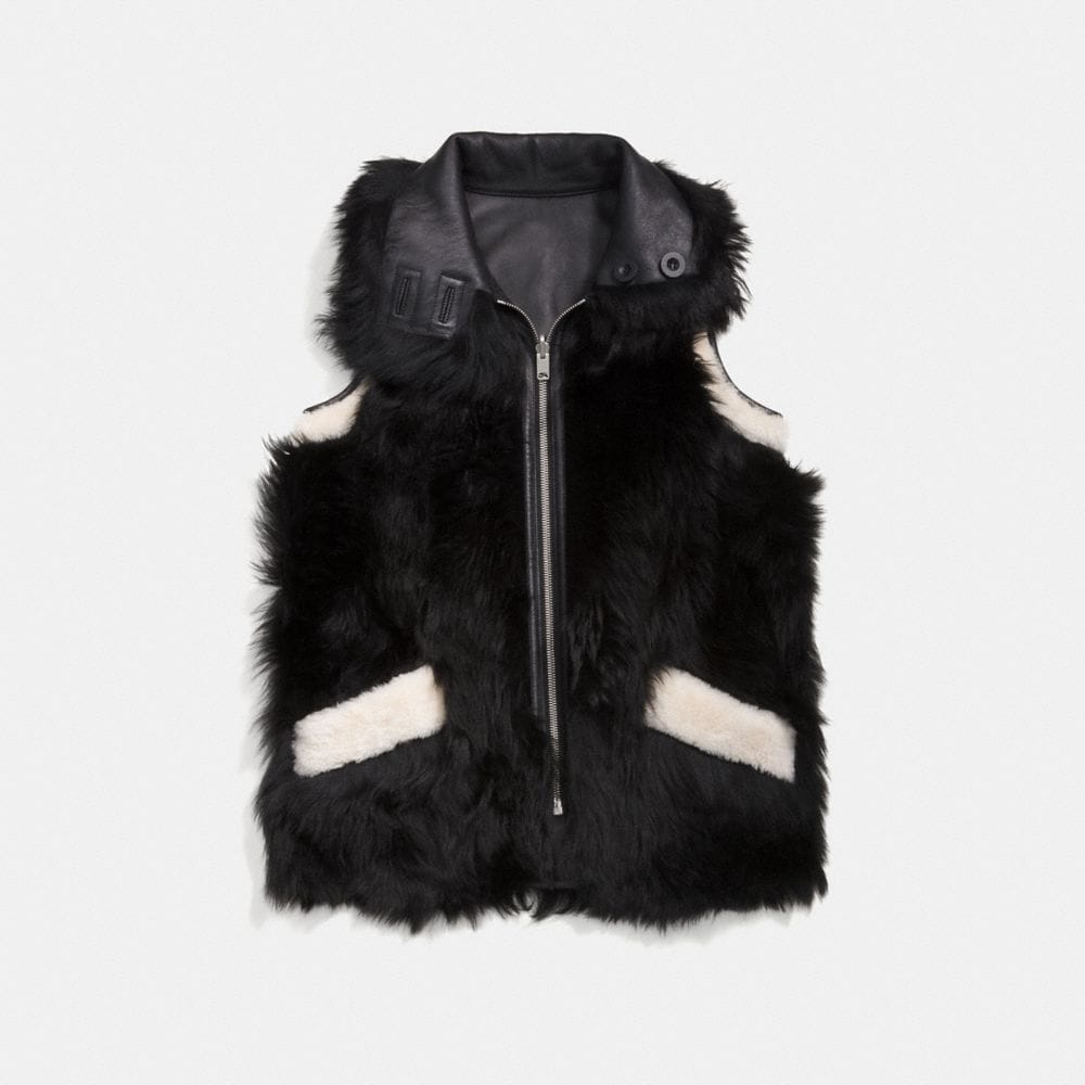 Coach Reversible Shearling Vest