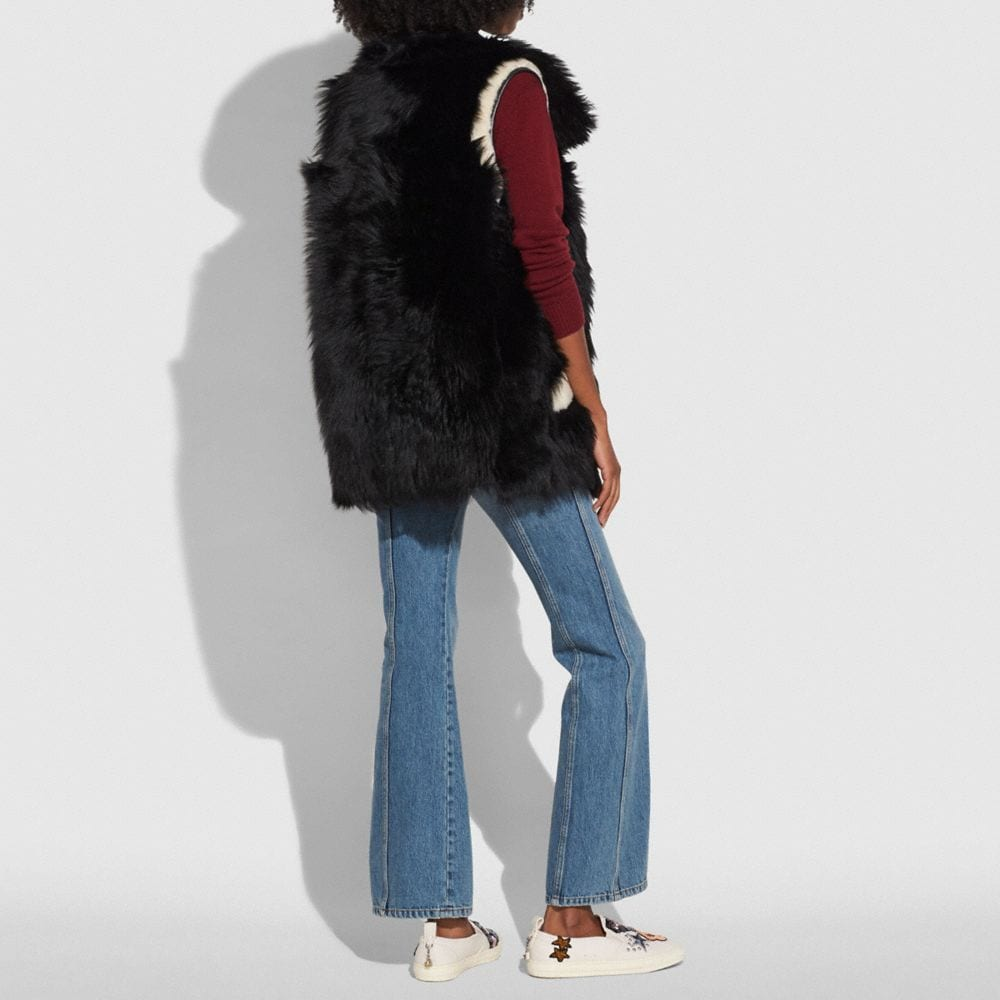Coach Reversible Shearling Vest Alternate View 2