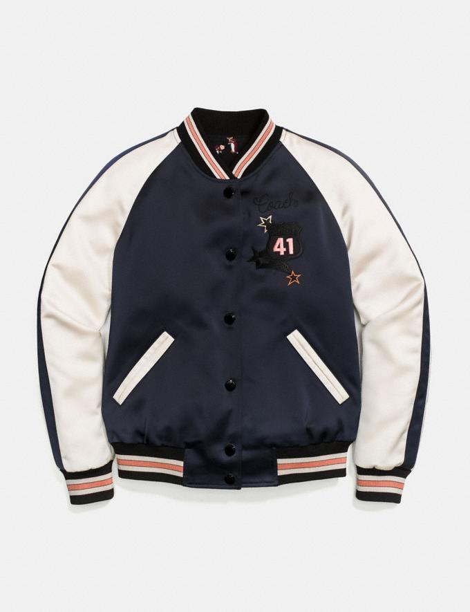 Coach Chaqueta Reversible Souvenir Azul Marino/Rosa MÚLtiple Mujer Confección Abrigos y chaquetas